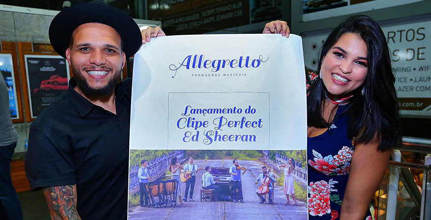 Lançamento do clipe Perfect - Ed Sheeram do Allegretto